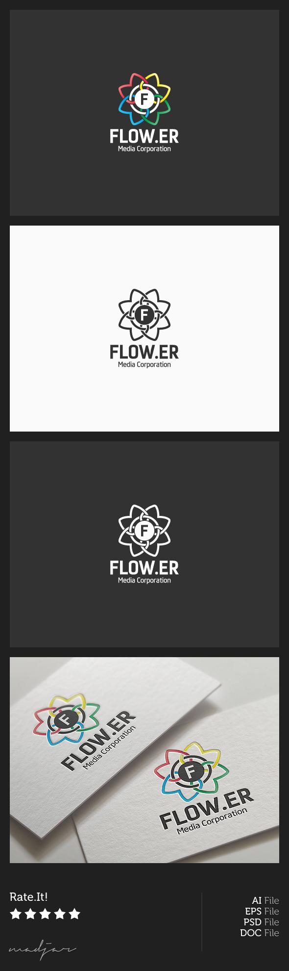 Flower Logo by madjarov on DeviantArt