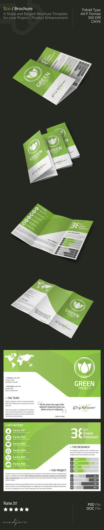 Eco - Trifold Brochure by madjarov