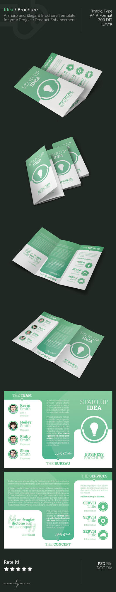 Idea - Trifold Brochure by madjarov