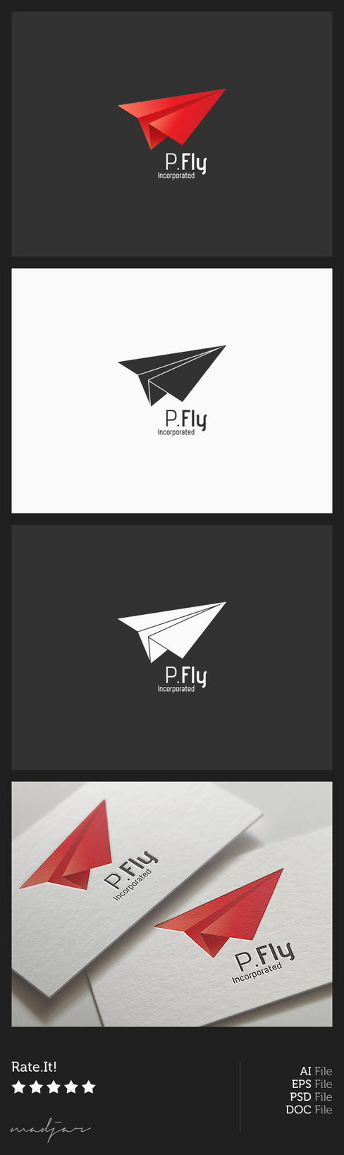 Paper Plane Logo by madjarov on DeviantArt