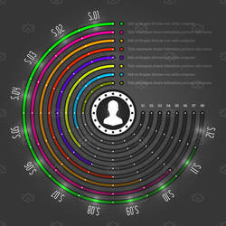 Business Infographic Core Pie Chart by madjarov
