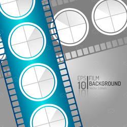 Editable Cinema Film Isolated Vector