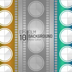 Vintage Cinema Film Isolated Vector