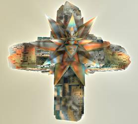 Crystal on Cross