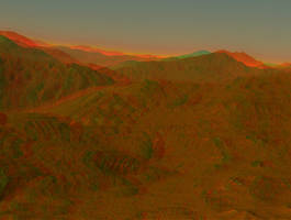 Mountain Sunrise Stereo by DDDPhoto