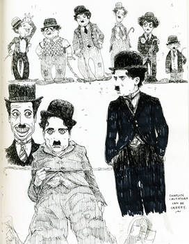 chaplin and impersonators