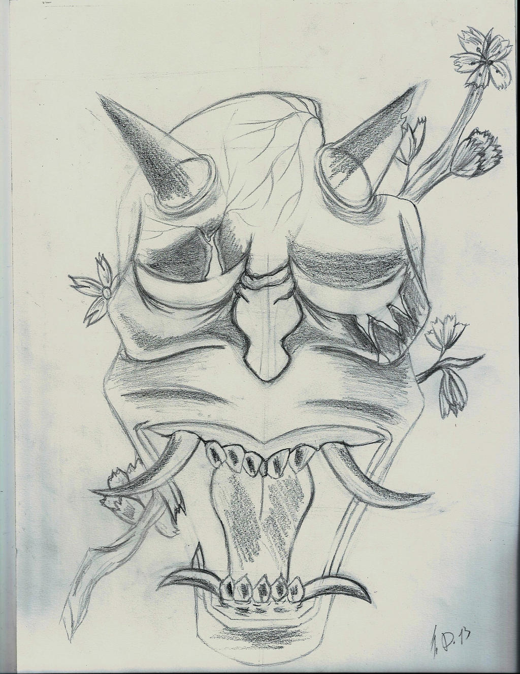 hannya mask sketch by flaviudraghis on deviantart. Black Bedroom Furniture Sets. Home Design Ideas