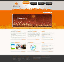 Crinel Website Design Op2 by karmooz