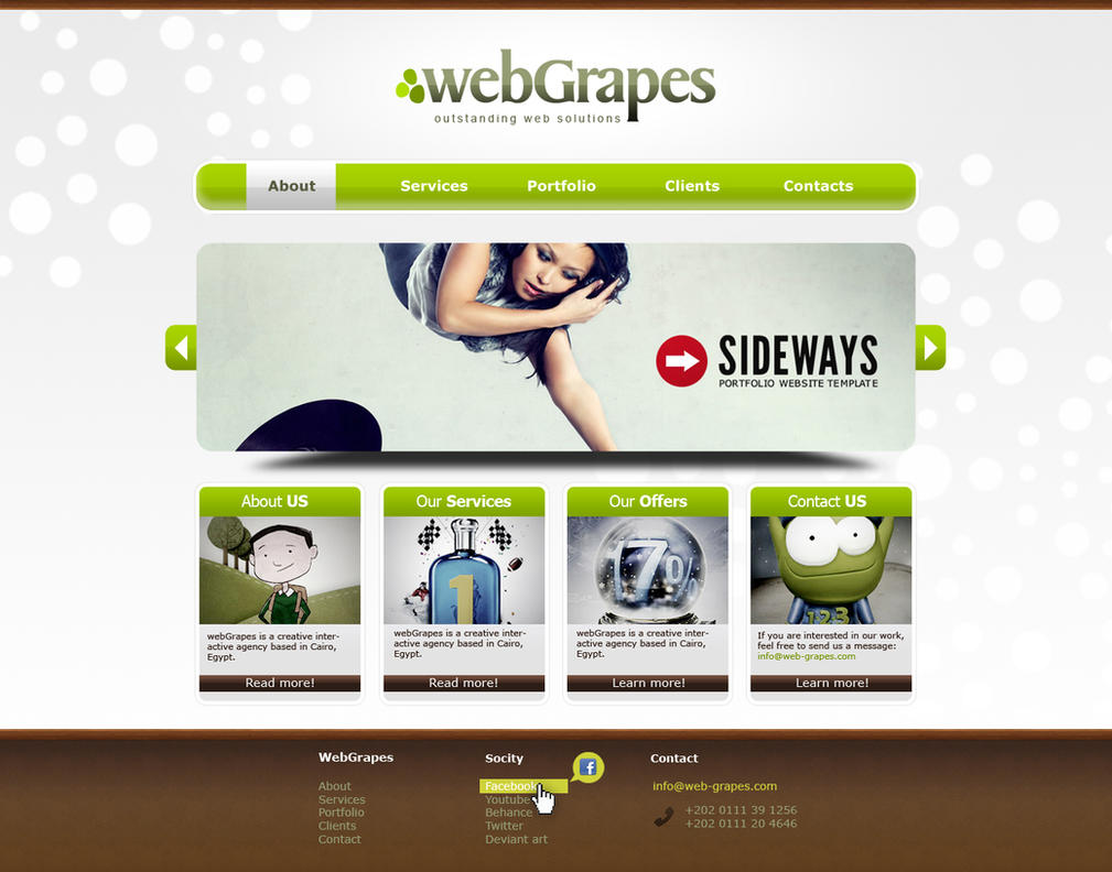 web-grapes new web design by karmooz