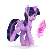 Twilight Sparkle | Alicorn  Book Magic version  by riukime