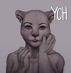 Auction YCH - Glimps of Beauty ( Feline )