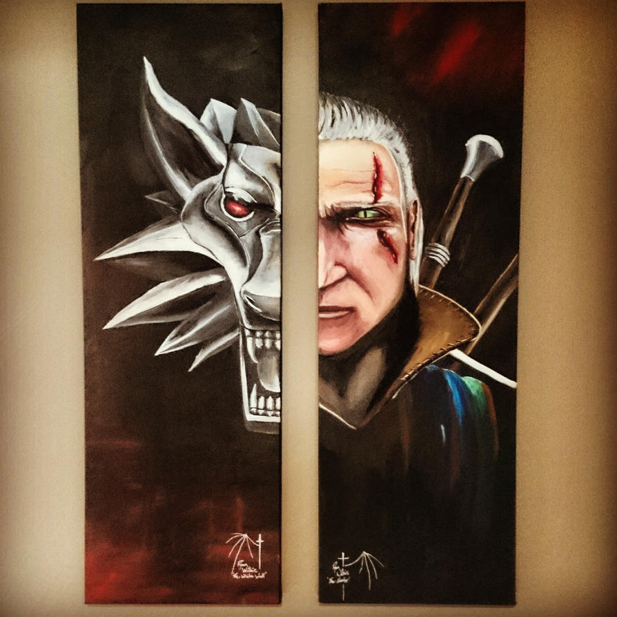 The Witcher and The Wolf by darkguitar3000