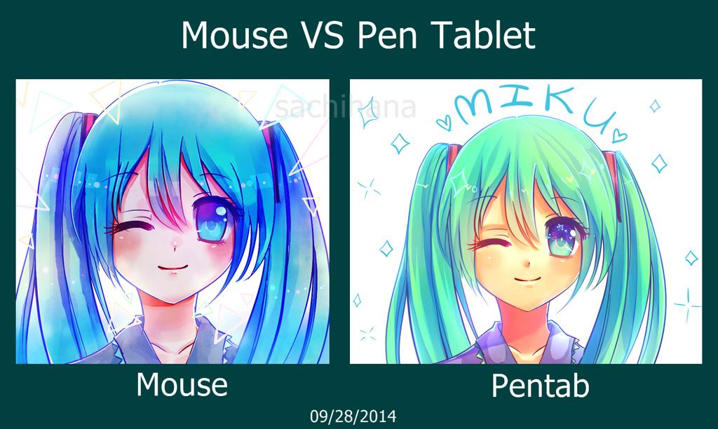 Mouse VS Pentab by SachiHana