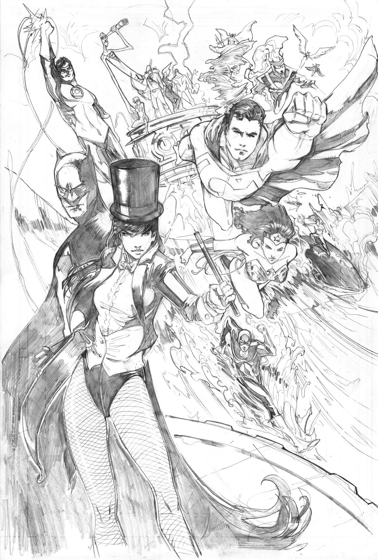 Zatanna and the Justice League by Peter-v-Nguyen