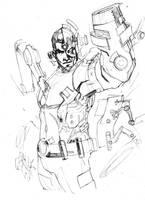 Cyborg sketch by Peter-v-Nguyen