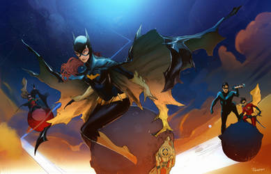 Talking to the moon BATGIRL by Peter-v-Nguyen