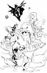 Batgirl and Dick vs ALL inks by Peter-v-Nguyen