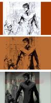 pencil inks tones BOYWONDER Steps by Peter-v-Nguyen