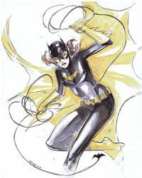 Batgirl on the ropes by Peter-v-Nguyen