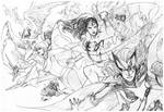 Dc women kicking pencils