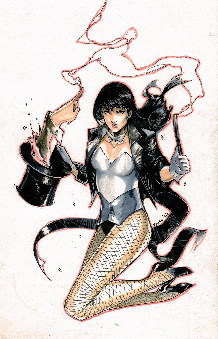 zatanna vs constantine by Peter-v-Nguyen