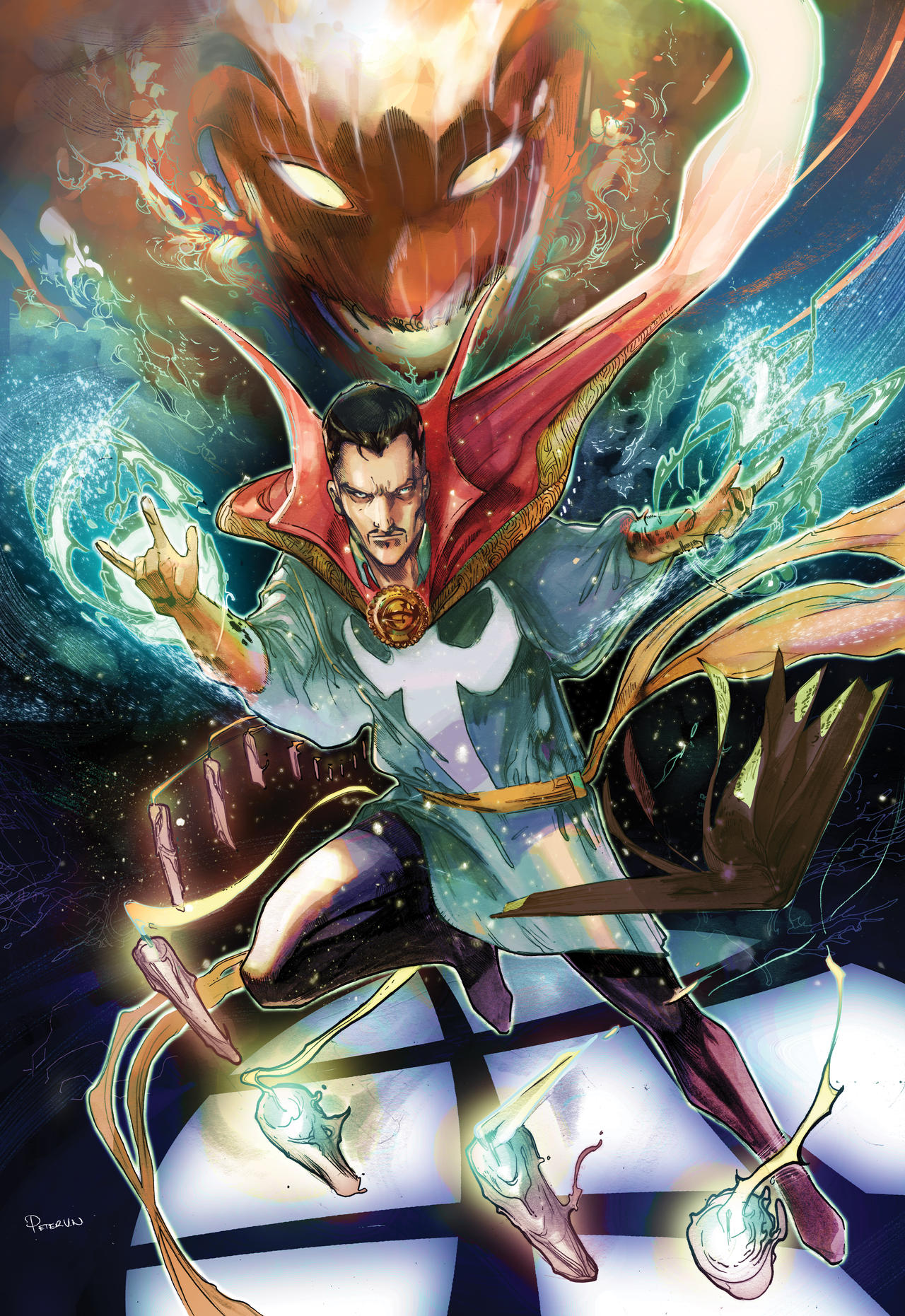 Doctor strange colored vs Dormmanu by Peter-v-Nguyen