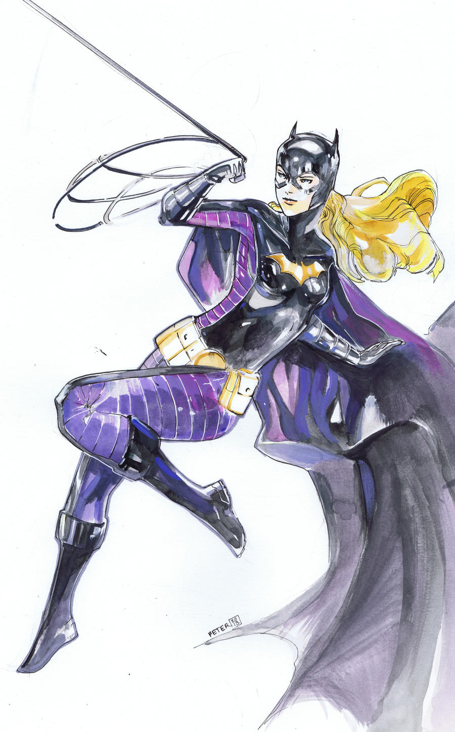 STEPHANIE brown batgirl by Peter-v-Nguyen