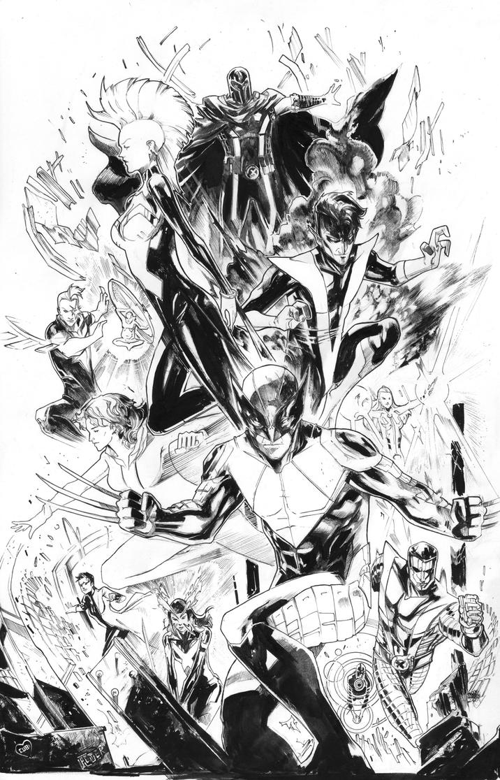 x-men outback inks! by Peter-v-Nguyen
