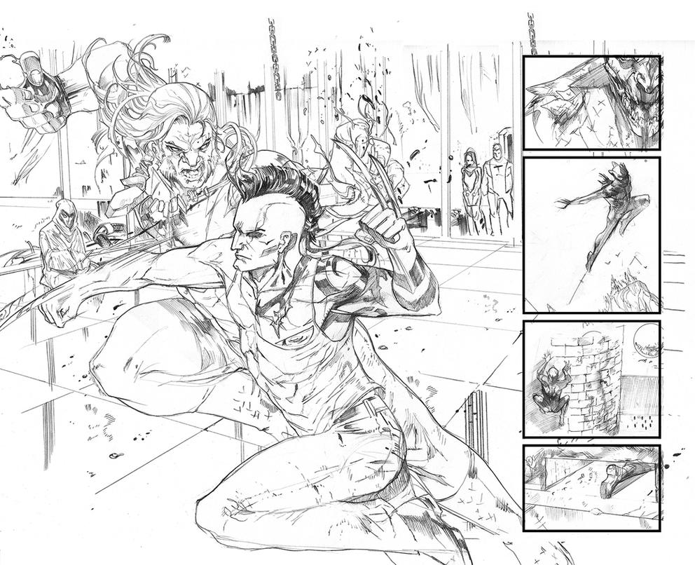 Logan legacy double page spread by Peter-v-Nguyen