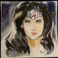 wonder woman water color by Peter-v-Nguyen