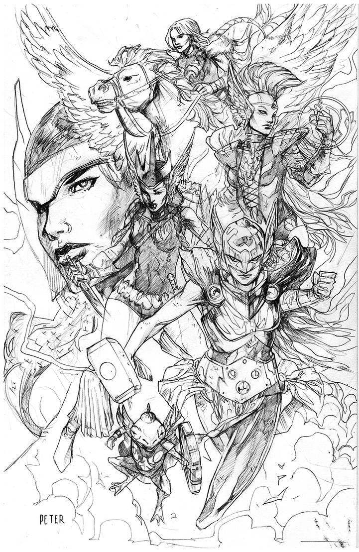 asgardians warriors by Peter-v-Nguyen
