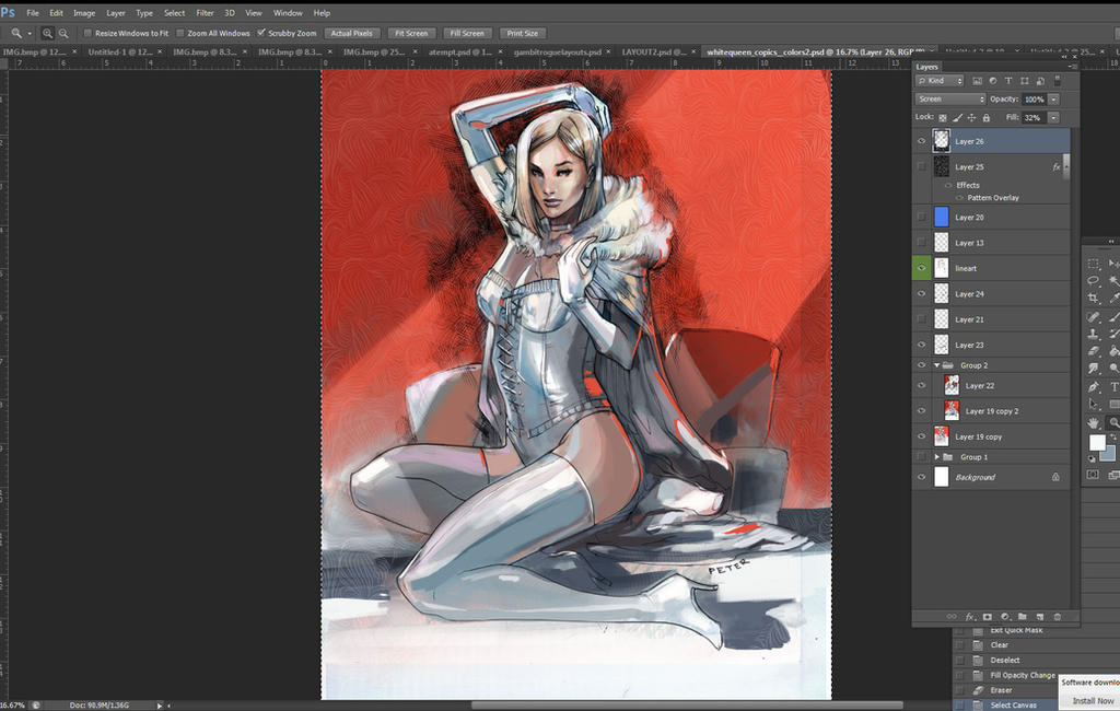 whitequeen progress by Peter-v-Nguyen