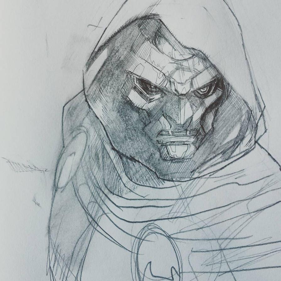 doctor doom sketch by Peter-v-Nguyen