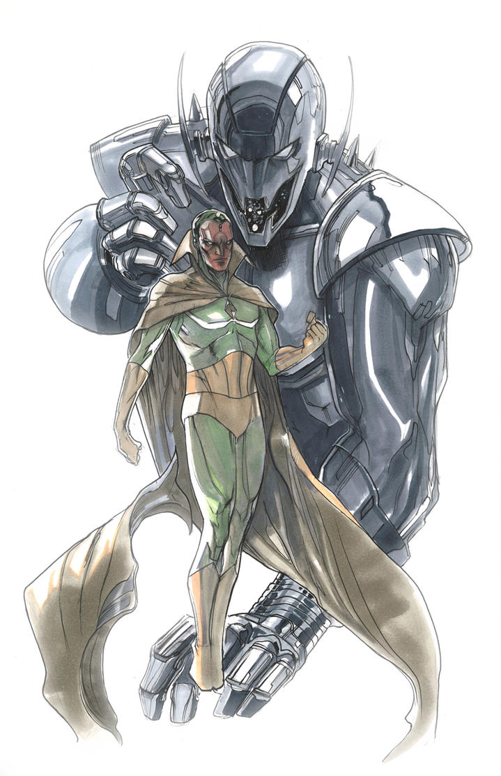 Vision anad ultron by Peter-v-Nguyen