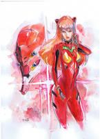Evangelion asuka by Peter-v-Nguyen