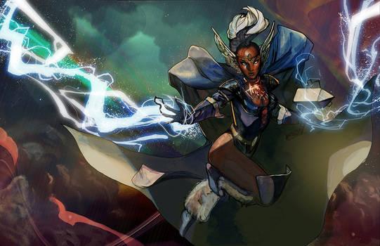 storm asgardian power up