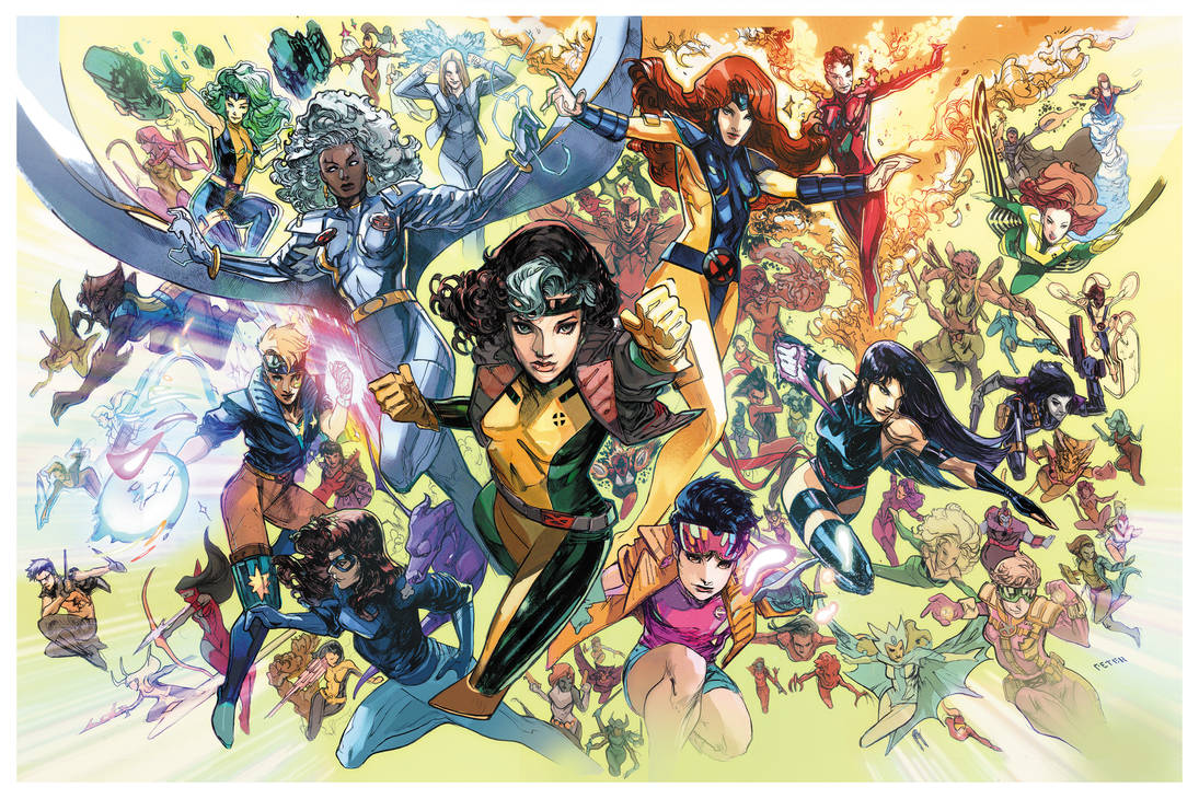 99% of the women of the 90 theme  x-universe  :) by Peter-v-Nguyen