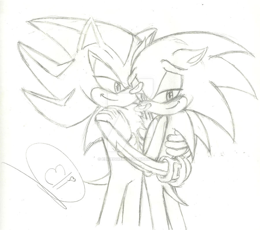 Sonadow - holding you innocently by EliHedgie95