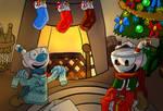 Cuphead and Mugman - Merry Christmas