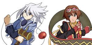 Namco Tales series: Genis Sage vs Rita Mordio by EliHedgie95