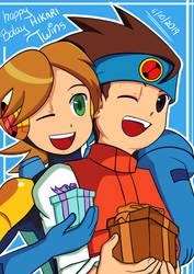 Hikari Twins - Happy Birthday by EliHedgie95