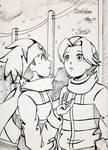 Inktober2019 Day 11 - Snow - Hikari Twins by ElizaVDraws