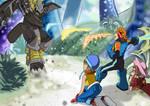 Rockman Exe x Digimon: saving Sora and Mimi by ElizaVDraws