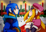 Megaman ZX: Thetis and Prairie Christmas