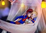 Skies of Arcadia : Vyse and Fina Valentine by ElizaVDraws