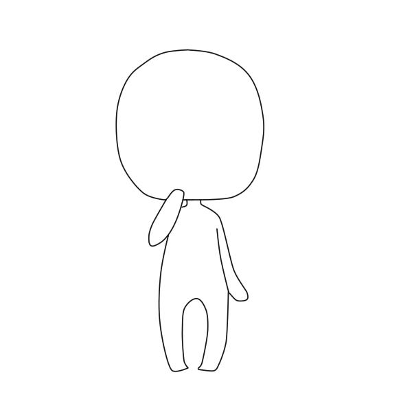 chibi body. lineart by TurtleAdventures on DeviantArt