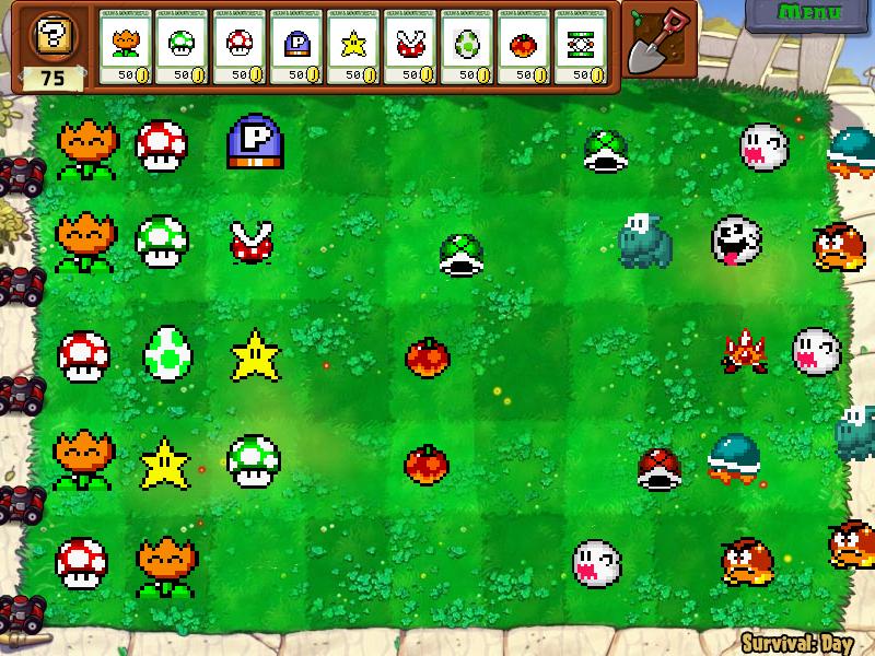 Plants vs zombies mario ver by shizukaseiji