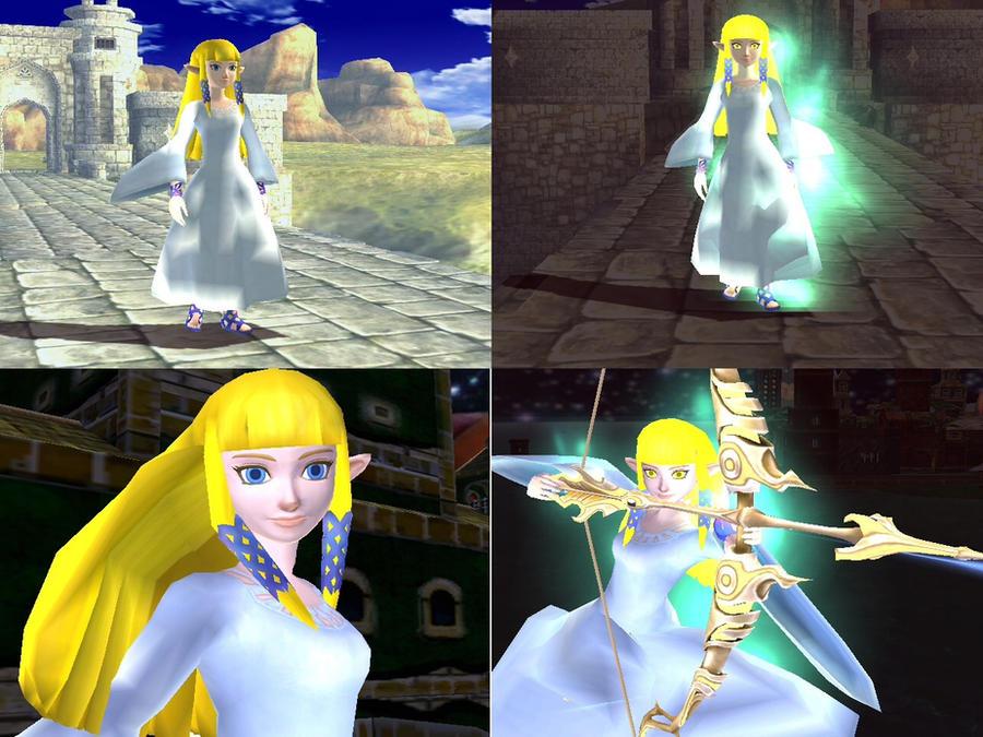 Multiple Pics Of Zelda In White Dress By Demonslayerx8 On