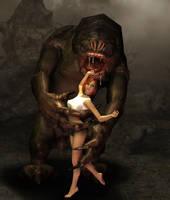 Jessica meets the Rancor1 by AlucardsSpirit