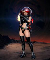 Retro Sci-fi Roxy Pinup